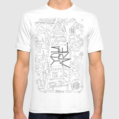 You Are MEDIUM Mens Fitted Tee White