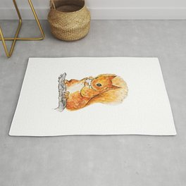 Squirrel Nutkin Peter Rabbit  Beatrix Potter Rug