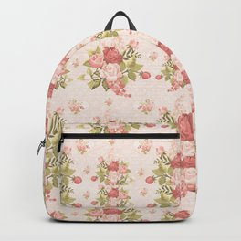 Romantic Vintage Roses and Hearts with Roses Backpack