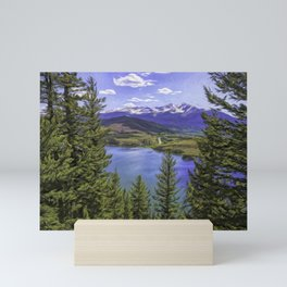 Sapphire Point 2 Painted Mini Art Print