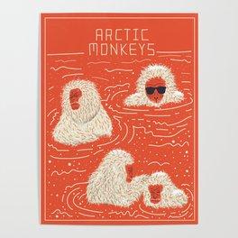 Actual Arctic Snow Monkeys Poster