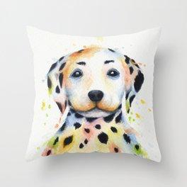 Colorful Dalmatians Throw Pillow