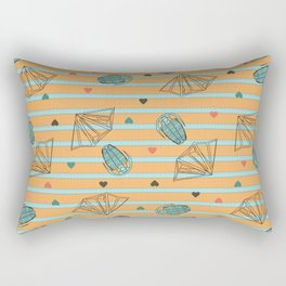 Geology Love: Fossils and Crystals Rectangular Pillow