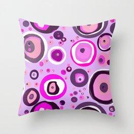 Pink Abstract Balls Throw Pillow
