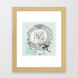 Mermaid in a bathtub. Framed Art Print