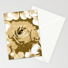 Roses Antique White Stationery Cards