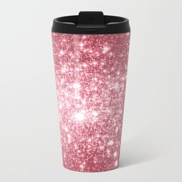 Pink Sparkle Stars Travel Mug