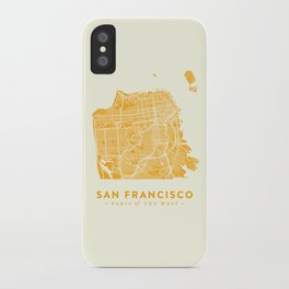 San Francisco City Map 03 iPhone Case