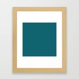 Clear Day Ocean Blue Solid Colour Palette Matte Framed Art Print