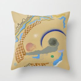 The Benefits Of Incompatibility - abstract pattern minimal modern colorful contemporary shapes  Throw Pillow