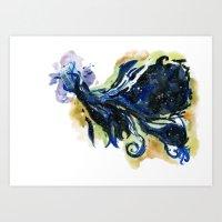 tardis Art Prints featuring Tardis  by DifficultyEasy