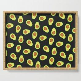 Avocado Pattern (black) Serving Tray
