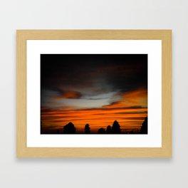 Red ocean Framed Art Print