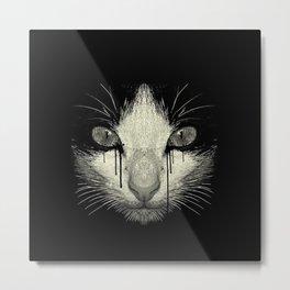 Weeping Cat Metal Print