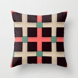 Cross Over Cross Throw Pillow