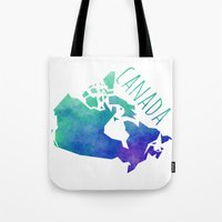 canada Tote Bags featuring Canada by Stephanie Wittenburg