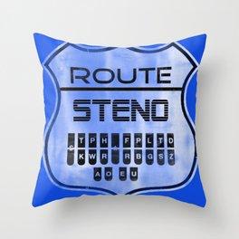 Route Steno Throw Pillow