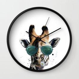 Blue-steel Giraffe Wall Clock