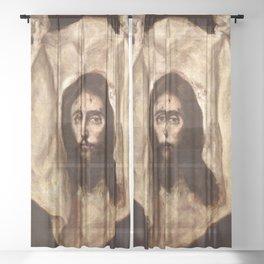 """El Greco (Domenikos Theotokopoulos) """"The Veil of Saint Veronica"""" Sheer Curtain"""