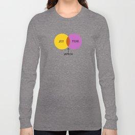 The Venn of Improv (Yellow/Violet) Long Sleeve T-shirt