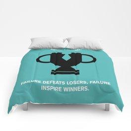 Lab No.4 - Failure Inspire Winners Robert Kiyosaki Inspirational Quotes poster Comforters
