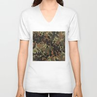 david fleck V-neck T-shirts featuring Fleck Tarn Camoflauge  by Derek Boman