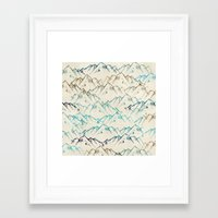 mountains Framed Art Prints featuring Mountains  by rskinner1122