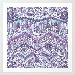 BARBARIAN TRIBE Mystic Winter Feather Tribal Art Print
