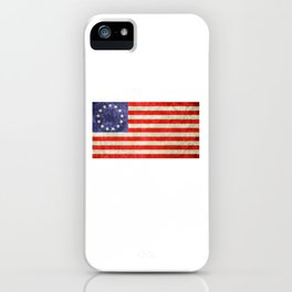 Betsy Ross Flag design iPhone Case