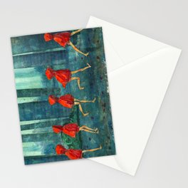 Five Little Red Riding Hoods 1 Stationery Cards