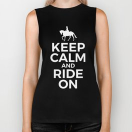 Horse Lover - Keep Calm and Ride On Biker Tank