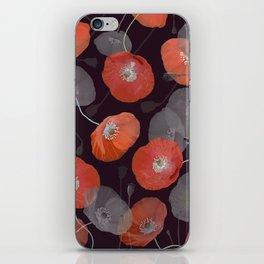 Night in the Poppy Field iPhone Skin