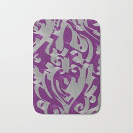 3D Ornamental Background Bath Mat