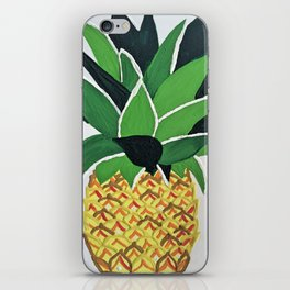 Bright Pineapple Cottage Beach House Nursery Wall Art iPhone Skin