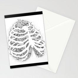 Anatomy Series: Rib Cage Flowers Stationery Cards