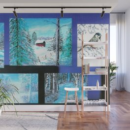 """ Winter Collage II "" Wall Mural"