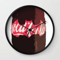 coke Wall Clocks featuring Coke-Man by colleencunha