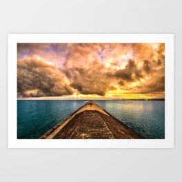 Sunset Clouds Over Lake Superior Art Print