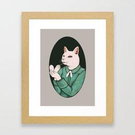 Cat Lip Framed Art Print