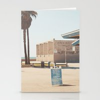 muscle Stationery Cards featuring Muscle beach by Retro Love Photography