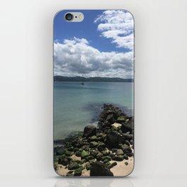 Rocks Into Wellington Harbour iPhone Skin