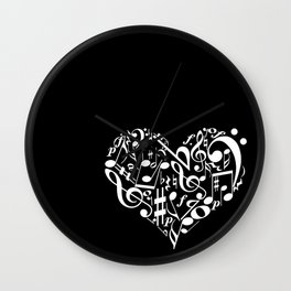 Invert Music love Wall Clock
