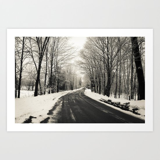 The Way Home - Winter Road Art Print