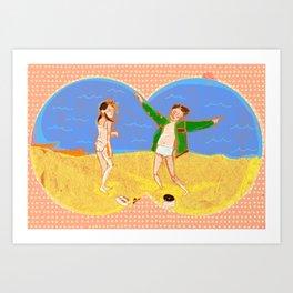 Tribute to Moonrise Kingdom Art Print