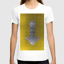 Industrial Arrow Tread Plate - Down T-shirt