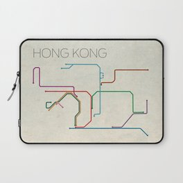 Minimal Hong Kong Subway Map Laptop Sleeve