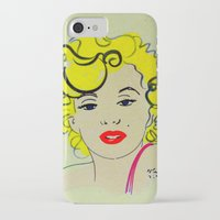 marylin monroe iPhone & iPod Cases featuring Out with Marylin by Irène Sneddon