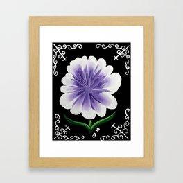 Large Flower Filigree Scroll Floral Art Acrylic Painting Purple Flower Framed Art Print