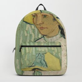 Girl in White, 1890 by Vincent Van Gogh Backpack