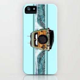 Woody Wave Hawaiian Surf Illustration  iPhone Case